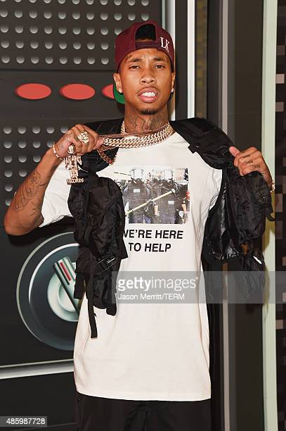 Rapper Tyga attends the 2015 MTV Video Music Awards at Microsoft Theater on August 30 2015 in Los Angeles California