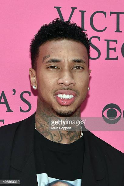 Rapper Tyga attends the 2015 Victoria's Secret Fashion Show at Lexington Avenue Armory on November 10 2015 in New York City