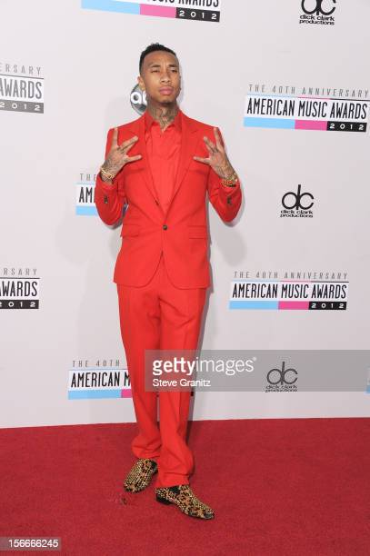 Rapper Tyga attends the 40th Anniversary American Music Awards held at Nokia Theatre LA Live on November 18 2012 in Los Angeles California