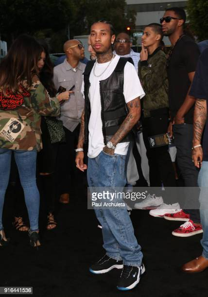 Rapper Tyga attends the premiere of Lionsgate's 'All Eyez On Me' on June 14 2017 in Los Angeles California