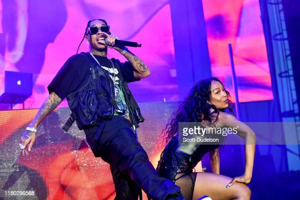 Rapper Tyga performs onstage during The Liftoff presented by Power 106 at FivePoint Amphitheatre on May 18 2019 in Irvine California