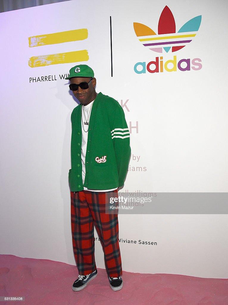 adidas Originals = PHARRELL WILLIAMS Pink Beach : News Photo