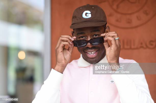 Rapper Tyler The Creator attends the 2019 French Tennis Open Day Fourteen at Roland Garros on June 08 2019 in Paris France