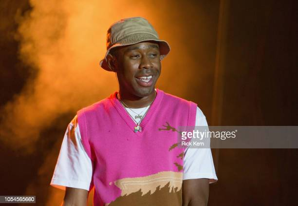 Rapper Tyler the Creator performs onstage during Mala Luna Music Festival at Nelson Wolff Stadium on October 27 2018 in San Antonio Texas
