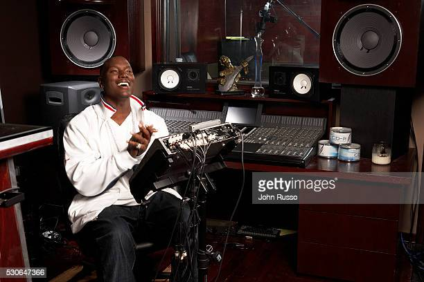 Rapper Tyrese Gibson is photographed at his recording studio in 2007