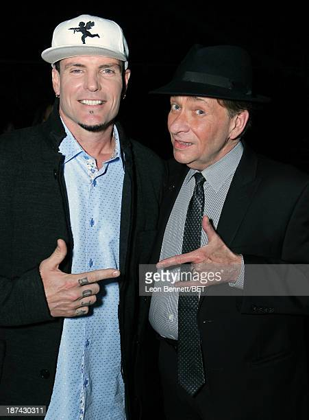 Rapper Vanilla Ice and singer Bobby Caldwell attend the Soul Train Awards 2013 at the Orleans Arena on November 8 2013 in Las Vegas Nevada