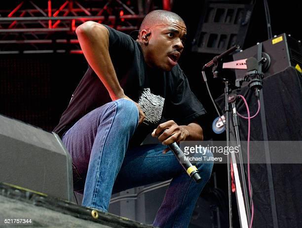 Rapper Vince Staples performs onstage during day 2 of the 2016 Coachella Valley Music Arts Festival Weekend 1 at the Empire Polo Club on April 16...