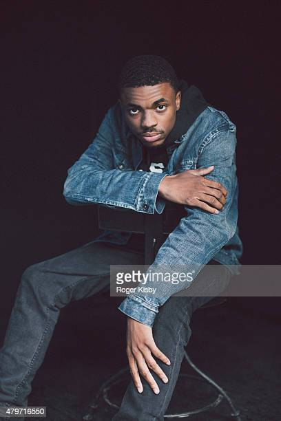 Rapper Vince Staples poses for a portrait backstage at The FADER FORT Presented by Converse during SXSW on March 21 2015 in Austin Texas