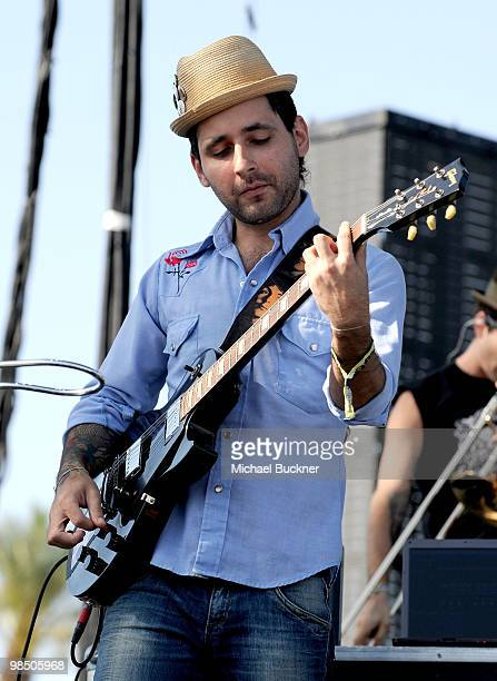 Rapper Visitante of Calle 13 perform during Day 1 of the Coachella Valley Music Art Festival 2010 held at the Empire Polo Club on April 16 2010 in...
