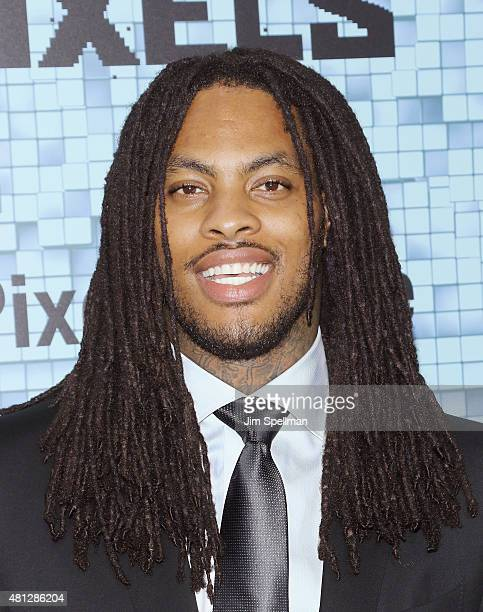 Rapper Waka Flocka Flame attends the Pixels New York premiere at Regal EWalk on July 18 2015 in New York City