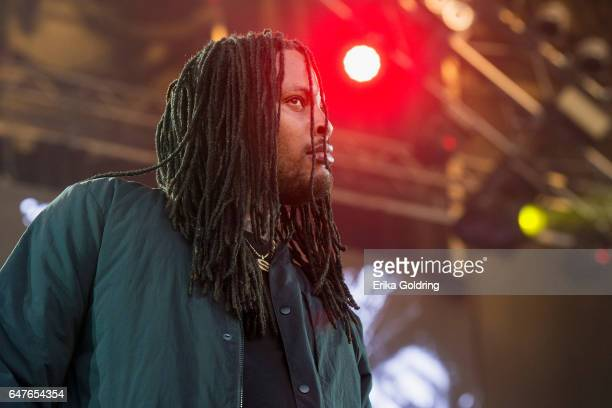 Rapper Waka Flocka Flame performs Okeechobee Music Festival on March 3 2017 in Okeechobee Florida