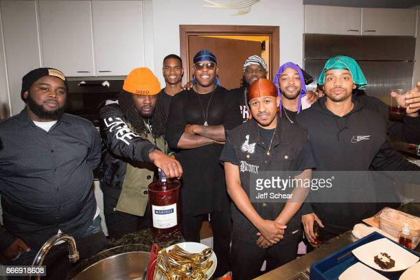 Rapper Wale and Ghetto Gastro attend HOME by Martell Chicago on October 26 2017 in Chicago Illinois