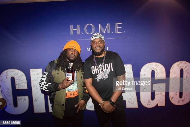 Rapper Wale and Hustle Simmons attend HOME by Martell Chicago on October 26 2017 in Chicago Illinois
