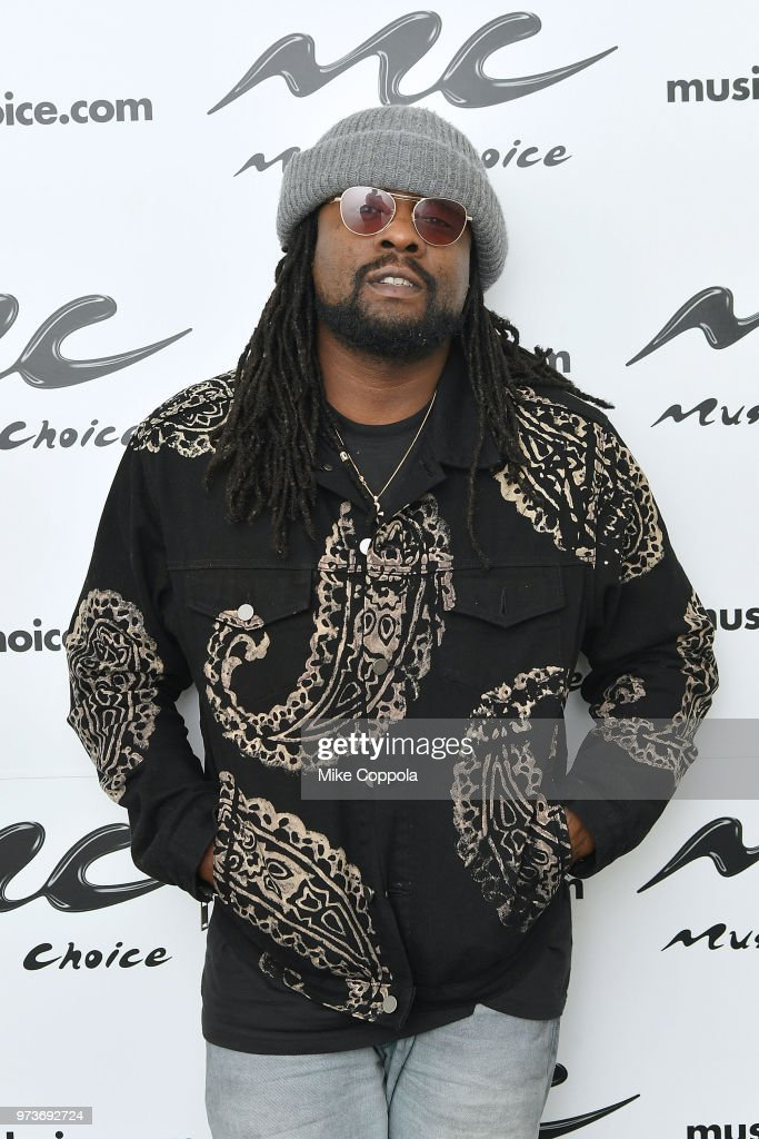 Rapper Wale visits Music Choice on June 13, 2018 in New York City.