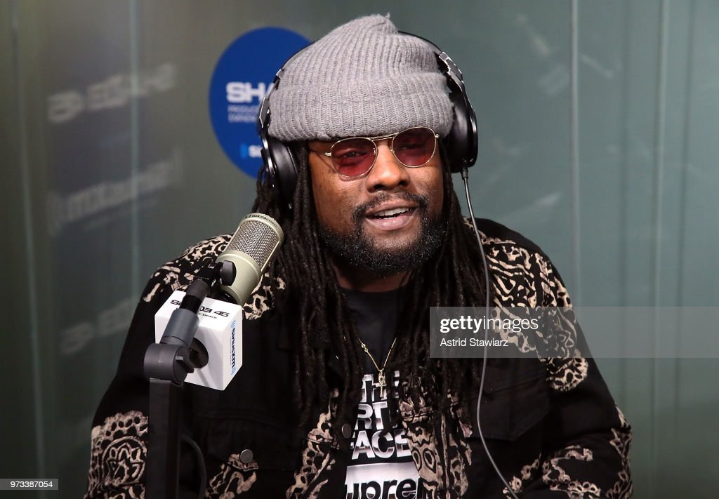 Rapper Wale visits the SiriusXM Studios on June 13, 2018 in New York City.