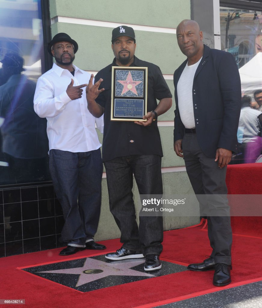 Rapper WC, honoree Ice Cube and director John Singleton at Ice Cube's Star On The Hollywood Walk Of Fame Ceremony held on June 12, 2017 in Hollywood, California.