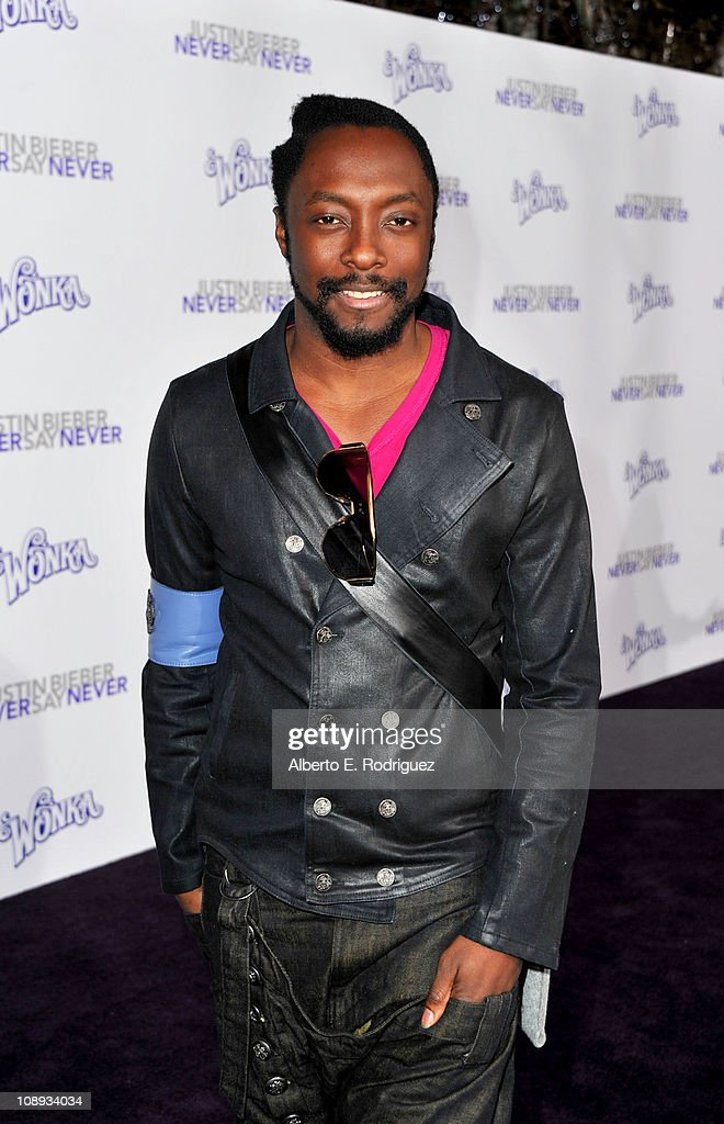 Rapper will.i.am arrives at the premiere of Paramount Pictures' 'Justin Bieber: Never Say Never' held at Nokia Theater L.A. Live on February 8, 2011 in Los Angeles, California.