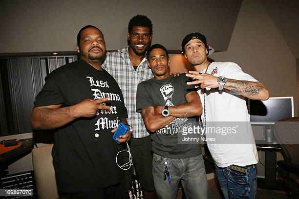 Rapper Wish Bone NFL player Rames Barden rappers Layzie Bone and Bizzy Bone attend a studio session at Germano Studios on June 3 2013 in New York City