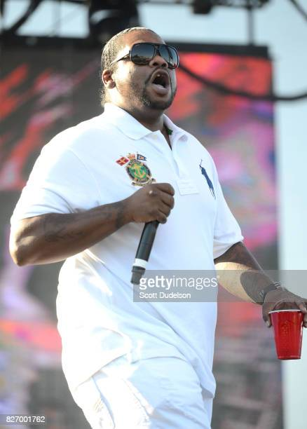 Rapper Wish Bone of Bone Thugs N Harmony performs onstage during Summertime in the LBC festival on August 5 2017 in Long Beach California