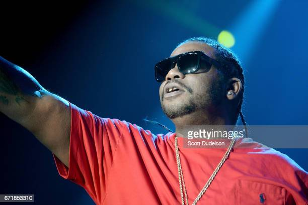 Rapper Wish Bone of Bone Thugsn Harmony performs onstage during the 935 KDAY Krush Groove 2017 concert at The Forum on April 22 2017 in Inglewood...