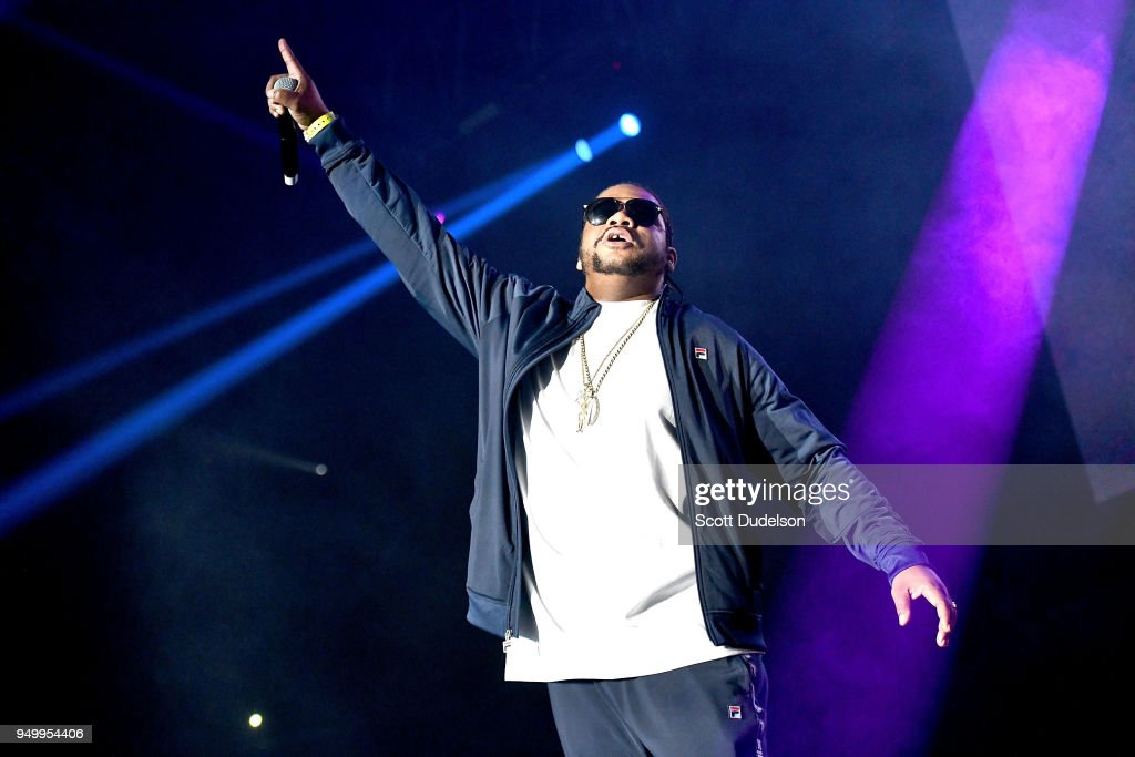 Rapper Wish Bone of Bone Thugs-n-Harmony performs onstage during the KDay 93.5 Krush Groove concert at The Forum on April 21, 2018 in Inglewood, California.