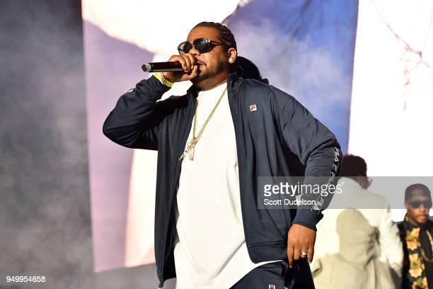 Rapper Wish Bone of Bone ThugsnHarmony performs onstage during the KDay 935 Krush Groove concert at The Forum on April 21 2018 in Inglewood California