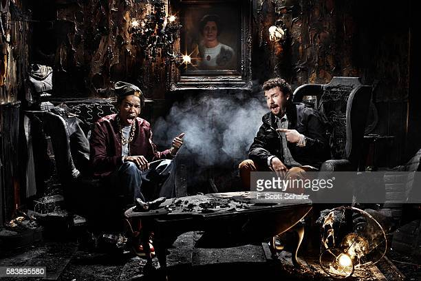 Rapper Wiz Khalifa and actor Danny McBride are photographed for Complex Magazine on February 1 2011 in New York City PUBLISHED IMAGE