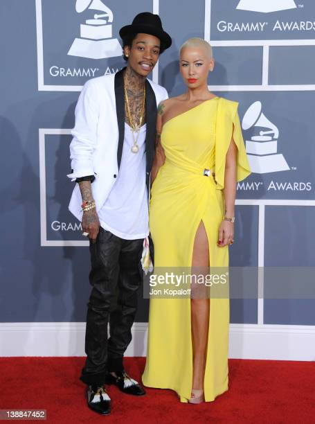 Rapper Wiz Khalifa and model Amber Rose arrive at 54th Annual GRAMMY Awards held the at Staples Center on February 12, 2012 in Los Angeles,...