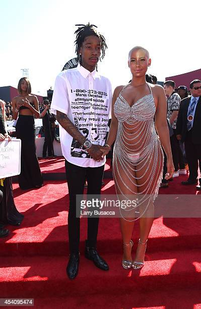 Rapper Wiz Khalifa and model Amber Rose attend the 2014 MTV Video Music Awards at The Forum on August 24 2014 in Inglewood California