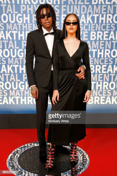 Rapper Wiz Khalifa and model Izabela Guedes attend the 2018 Breakthrough Prize at NASA Ames Research Center on December 3 2017 in Mountain View...