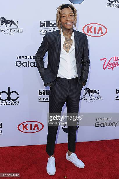 Rapper Wiz Khalifa arrives at the 2015 Billboard Music Awards at MGM Garden Arena on May 17 2015 in Las Vegas Nevada