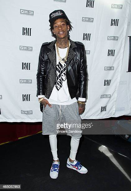 Rapper Wiz Khalifa attends BMI's 'How I Wrote That Song' PreGRAMMY event at House of Blues Sunset Strip on January 25 2014 in West Hollywood...