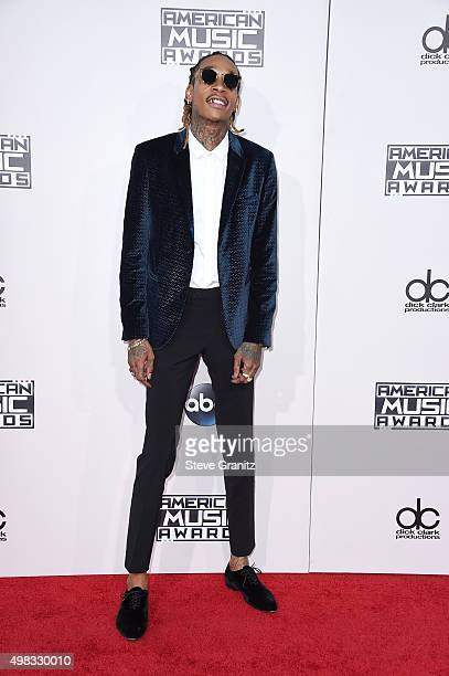 Rapper Wiz Khalifa attends the 2015 American Music Awards at Microsoft Theater on November 22 2015 in Los Angeles California