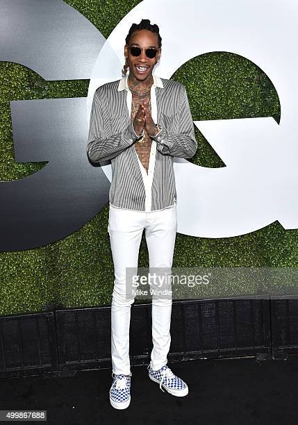 Rapper Wiz Khalifa attends the GQ 20th Anniversary Men Of The Year Party at Chateau Marmont on December 3 2015 in Los Angeles California