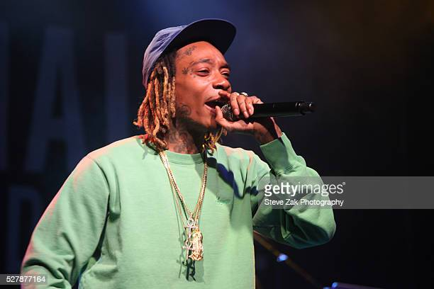 Rapper Wiz Khalifa performs at 2nd Annual National Concert Day Show at Irving Plaza on May 3 2016 in New York City