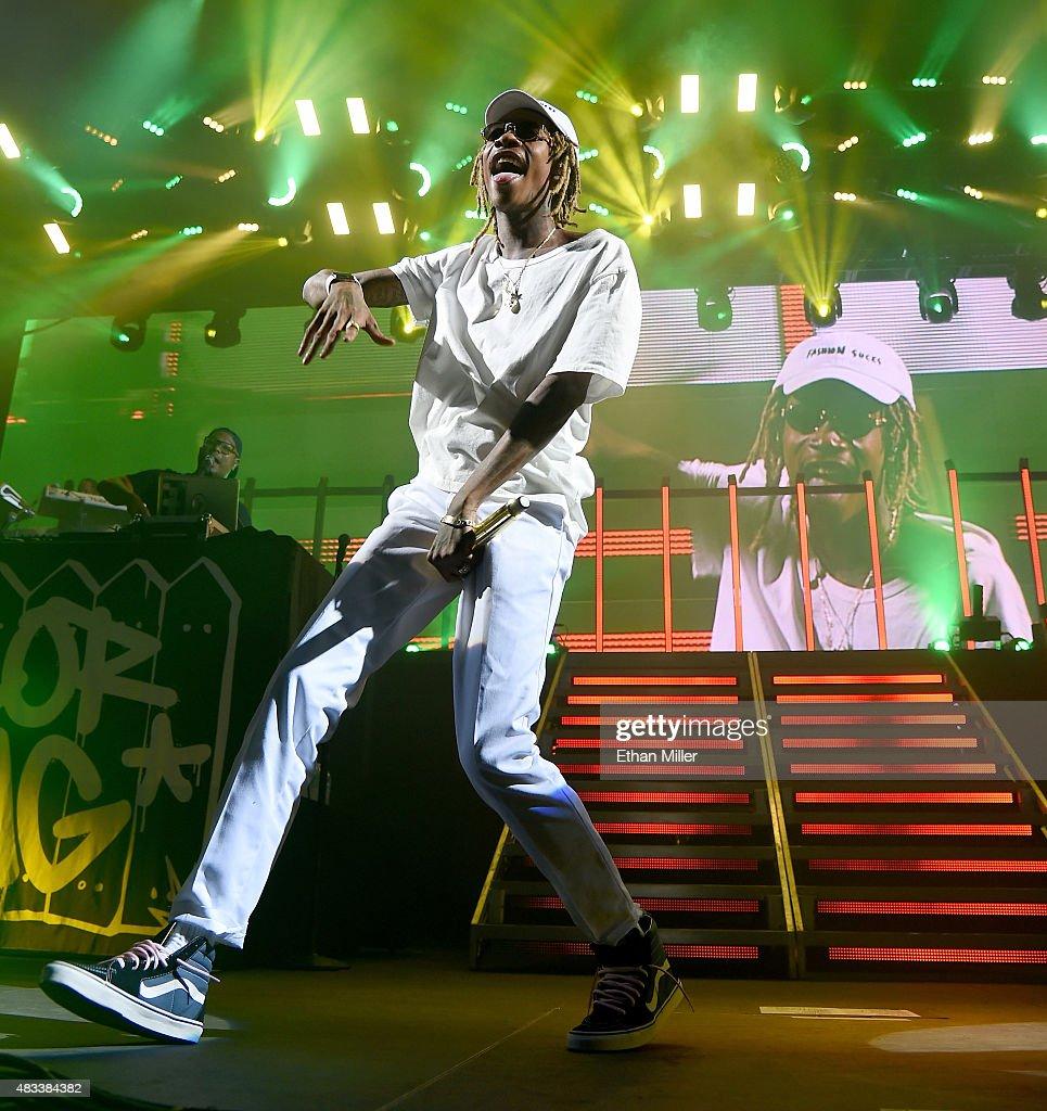 Fall Out Boy And Wiz Khalifa In Concert At Mandalay Bay : News Photo