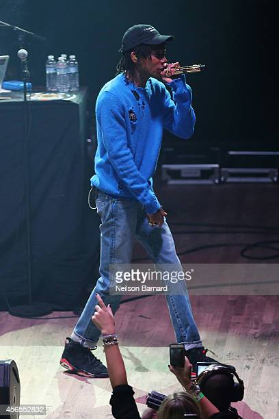 Rapper Wiz Khalifa performs on stage at the wrap party during AWXI at Webster Hall on October 2 2014 in New York City