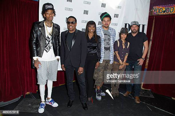 Rapper Wiz Khalifa singer Charlie Wilson Broadcast Music Inc Vice President Catherine Brewton musician Alex da Kid musician Linda Perry and singer...