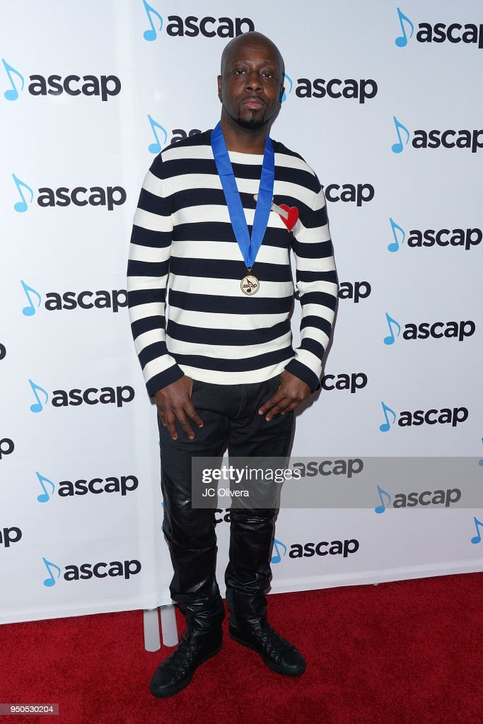 Rapper Wyclef Jean attends the 2018 ASCAP Pop Music Awards on April 23, 2018 in Beverly Hills, California.