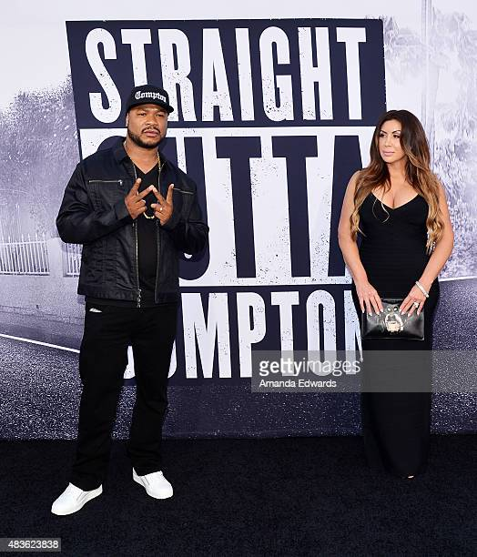 Rapper Xzibit and Krista Joiner arrive at the world premiere of Universal Pictures and Legendary Pictures' Straight Outta Compton at the Microsoft...