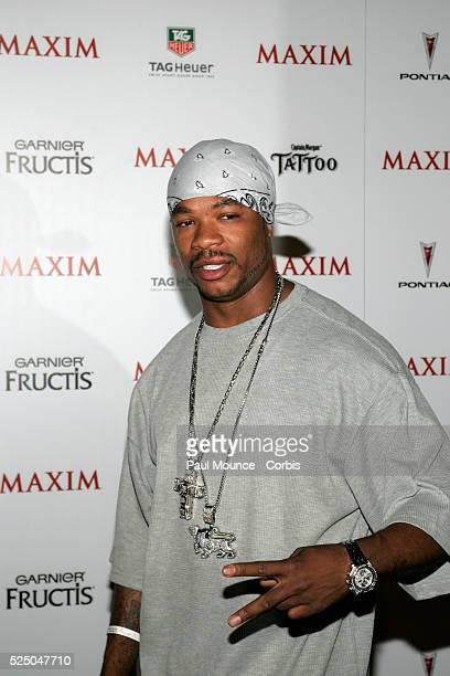 """Rapper Xzibit arrives at the celebrity party to celebrate the 2005 Maxim """"Hot 100"""" List."""