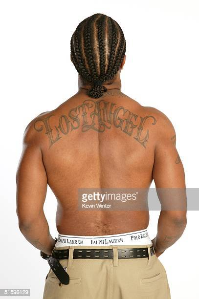 Rapper Xzibit poses at an exclusive studio session as it is announced he is the presenter of the MTV Europe Music Awards 2004 in an LA studio on...