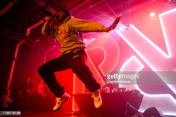 Rapper YBN Cordae performs during Spotify's RapCaviar Live at Varsity Theater on April 5 2019 in Minneapolis Minnesota
