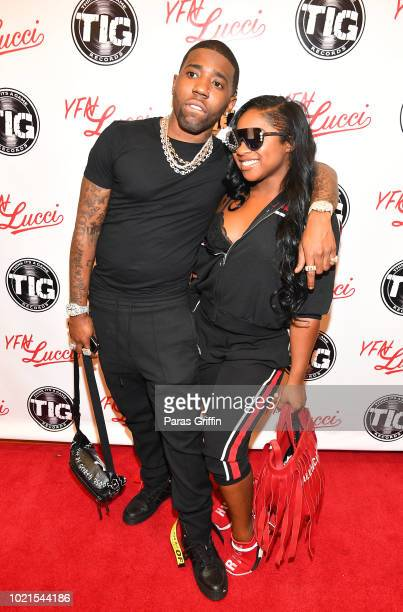 Rapper YFN Lucci and Reginae Carter attend their Back 2 School Field Day at Grant Park Recreation Center on August 22 2018 in Atlanta Georgia