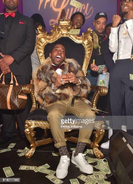 Rapper YFN Lucci attends Trap Du Soleil Celebrating LFN Lucci on February 13 2018 in Atlanta Georgia