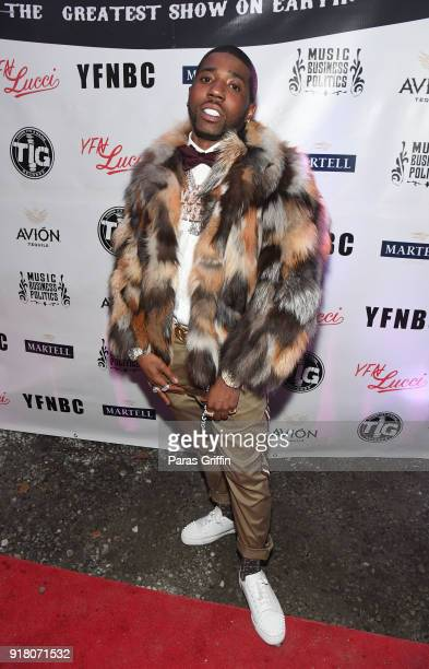 Rapper YFN Lucci attends 'Trap Du Soleil' YFN Lucci Birthday Celebration at Mechanicsville on February 13 2018 in Atlanta Georgia