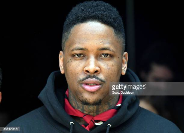 Rapper YG attends the 'Beyond the Surface with YG' We Rise conversation on May 28 2018 in Los Angeles California