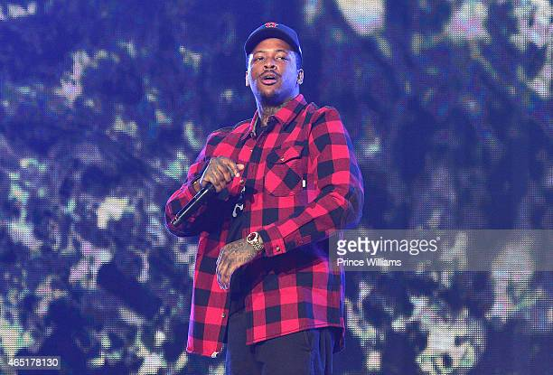 Rapper YG performs at Phillips Arena on March 2 2015 in Atlanta Georgia