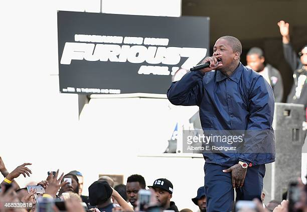 Rapper YG performs at Revolt Live Hosts Exclusive 'Furious 7' Takeover with Musical Performances From the Official Motion Picture Soundtrack at...
