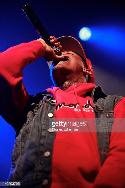 Rapper YG performs during the Careless World tour at Best Buy Theater on February 29 2012 in New York City